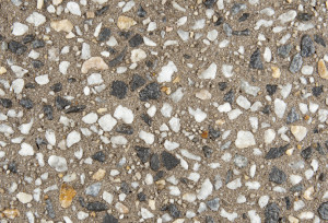 Exposed aggregate concrete bark