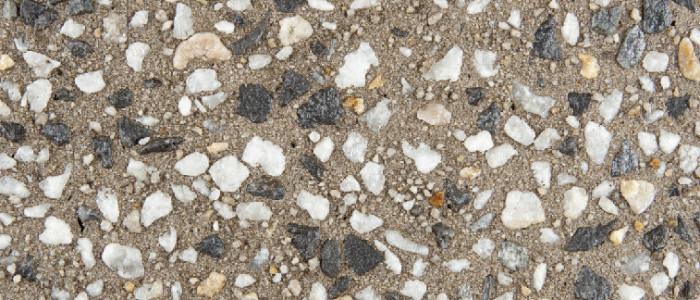 Exposed aggregate concrete bark