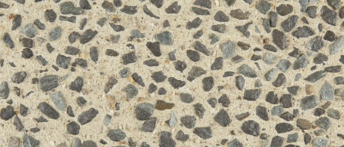 Exposed aggregate concrete blizzard