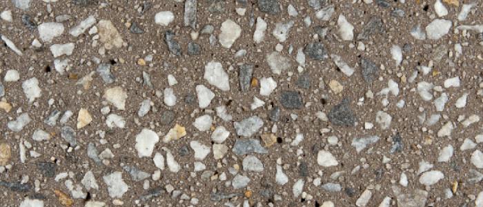 Exposed aggregate concrete coffee