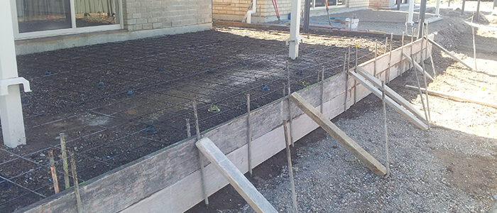 Concrete site preparation