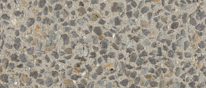 exposed aggregate concrete pepper