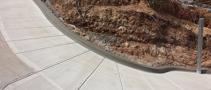 Plain concrete with joins