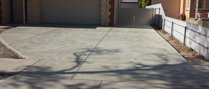 Plain concrete driveways in Adelaide