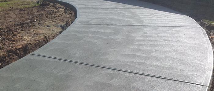 Plain concrete paths
