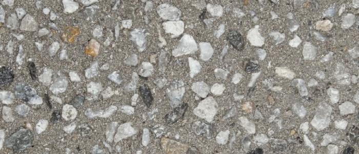 exposed aggregate concrete ghost