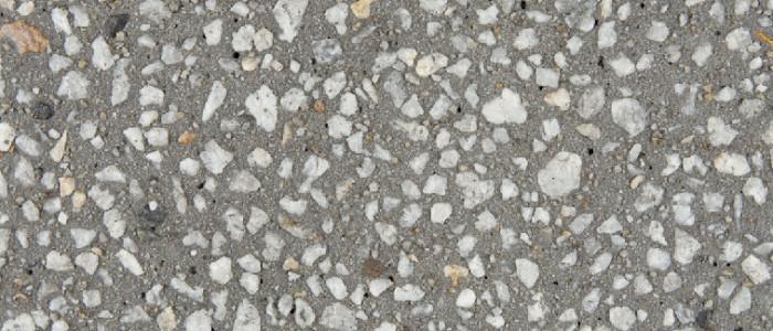 exposed aggregate concrete smoke
