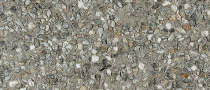 exposed aggregate concrete spice seeded with gunsmoke