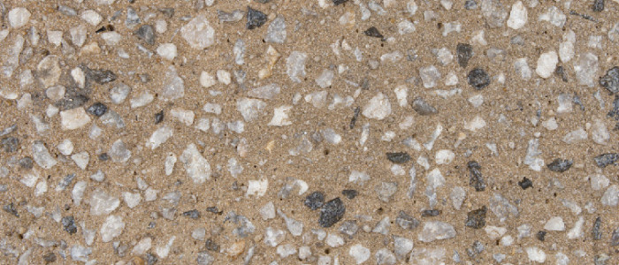 exposed aggregate concrete straw