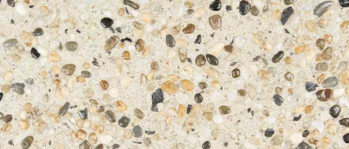 exposed aggregate concrete vanilla seeded with coorong
