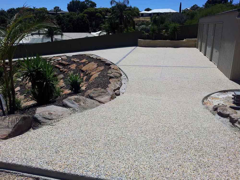 Exposed aggregate driveway Adelaide south Australia