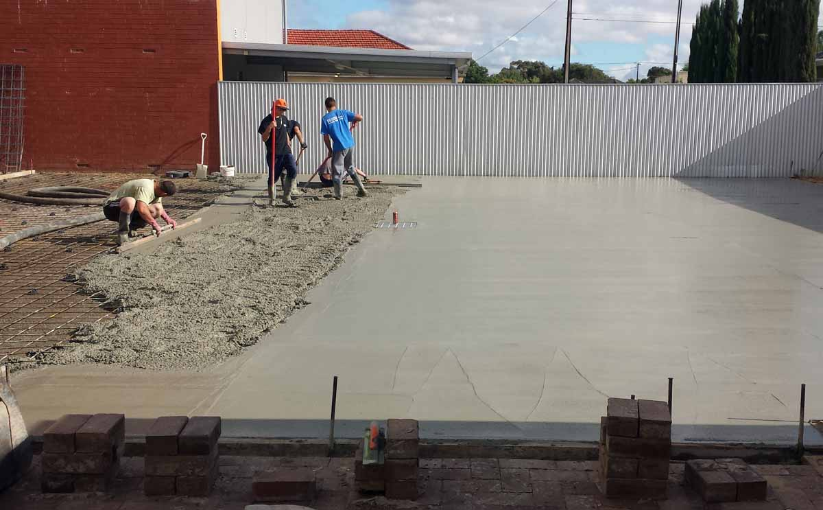 Plain concrete Adelaide South Australia