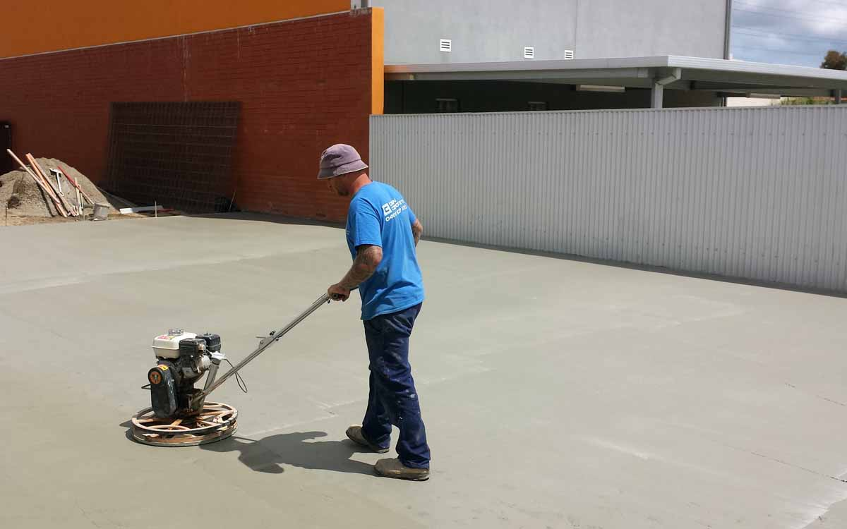 Plain concrete finish Adelaide South Australia